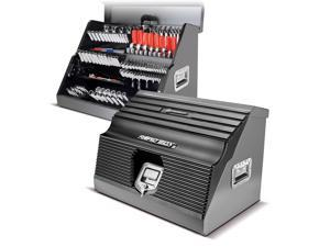 Powerbuilt 26 Inch Rapid Box Portable Slant Front Tool Box - Grey - 240111
