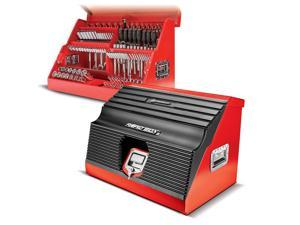 Powerbuilt 26 in. Rapid Box Portable Slant Front Tool Box Red - 240311