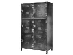 Allspace 6 Door Steel Storage Locker with Dark Weathered Finish - 240037