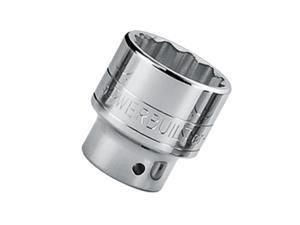 "Powerbuilt 3/4"" Dr. 55mm 12 Pt. Metric Socket Chrome Vanadium ANSI - 643242"