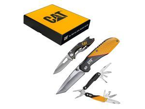 Cat 3 Piece Multi-Tool and Pocket Knife Gift Set Box - 240126