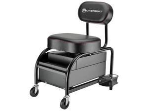 Powerbuilt Professional Detailer Mechanic Heavy Duty Garage Roller Seat - 240299