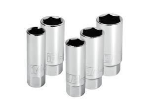 Powerbuilt 5 Piece 3/8-Inch Drive Spark Plug Socket Set - 640855
