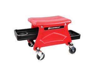 Powerbuilt Roller Seat Mechanics Stool w/ 2 Tool Trays 300 lb.Capacity  - 240283