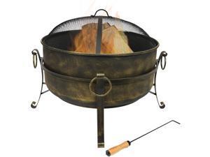 Sunnydaze Steel Cauldron Fire Pit, 24 Inch Diameter