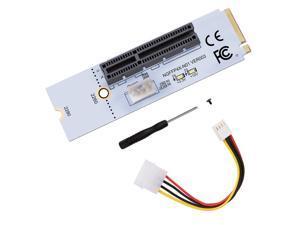 NGFF M2 to PCI-e 4X 1X Slot Riser Card M Key M.2 2260 2280 SSD Port to PCIE Adapter Converter Multiplier for BTC Miner Mining
