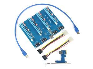 XT-XINTE PCI-E Adapter Card PCIe 1 to 4 1X to 16X Slot Riser Mining Card PC Computer Connector for Miner BTC Bitcoin
