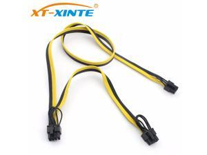 Modular PSU Power Supply Cables 8Pin to 6+2Pin Cable Graphics Card Module Line 8P to Dual 8p Splitter Ribbon Cable 18AWG 70+20cm