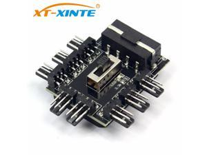1 to 8 4Pin Molex Cooler Fan Hub Splitter Cable PWM 3Pin Power Supply Speed Controller Adapter For Miner Computer Cooling