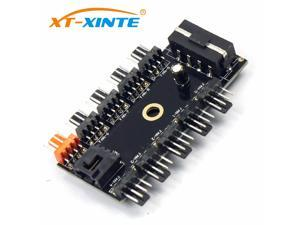 PC 1 to 10 4Pin Cooling Fan Hub Molex Cooler Splitter Cable PWM 12V Led Speed Power Supply Adapter For Mining Computer