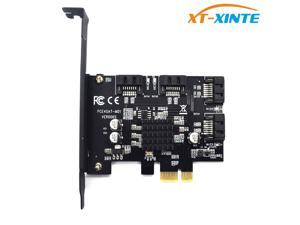 PCI-e to SATA 3.0 4 Ports 6G Expansion Controller Card PCIE SATAIII 3.0 Converter Adapter Bracket for HDD SSD Marvell 88SE9215