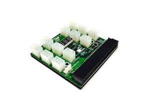 PCI-E 12V 64Pin to 12x 6Pin Power Supply Server Adapter Breakout Board w 12Pcs 6Pin Power Cable for HP 1200W 750W PSU GPU Mining(BOARD ONLY)