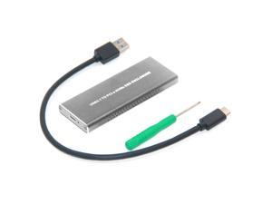 USB3.1 TO PCI-E NVNE NGFF SSD Hard Disk Case USB3.1 Type-C To NVMe M.2 HDD Enclosure(A TO C Cable Silver)