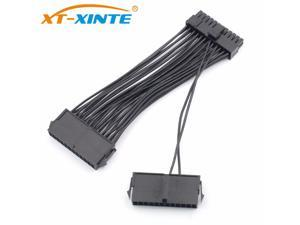 24Pin ATX Dual PSU Power Supply Extension Cable 30cm Adaptor Connector for Computer Mining Starting Line 24Pin 20+4pin