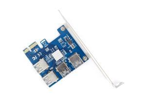 WBTUO Riser Card PCI-E USB 3.0 PCIe Port Multiplier Card PCI express PCIe 1 to 4 PCI-E to PCI-E for BTC Miner