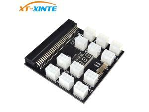PCI-E 12V 64Pin to 12x 6Pin Power Supply Server Adapter Breakout Board Black Splitboard for HP DPS PSU GPU Ethereum Mining Miner