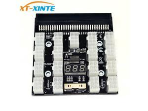 Black PCI-E 17x 6Pin Power Supply Breakout Board Adapter Converter 12V for Ethereum BTC Antminer Miner Mining HP Server PSU GPU