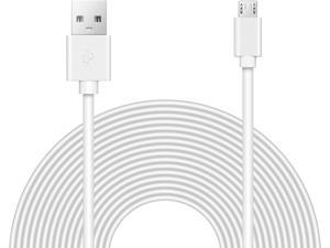 16ft Security Camera Micro USB Extension Cable Compatible Wyze Cam Pan, YI Home Camera, WhiteCamera Cable White