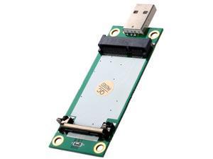 Generic Mini PCI-E Wireless WWAN To USB Adapter Card With SIM Card Slot Module Testing
