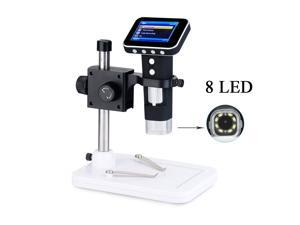 """Portable 500X USB Digital Microscope with 2.5"""" LCD display Sourcingbay Wireless Handheld/Standalone Endoscope Magnifier with Adjustable Stand, 3MP HD Image Sensor Camera, 8 LEDs, Battery Powered"""