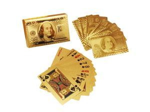 24K Karat Gold Golden Foil Plated Poker Playing Card with Certificate US Pattern