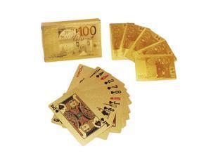 24K Karat Gold Golden Foil Plated Poker Playing Card with Certificate EU Pattern