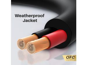 16 AWG Outdoor Direct Burial Speaker Wire, GearIT Pro Series 16 Gauge OFC (500 Feet / 152 Meters) Oxygen Free Copper Cable UL CL3 Rated for Outdoor and In-Wall Installation, Black