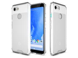 ROOCASE Google Pixel 3 XL Case, Plexis Ultra Slim and Lightweight TPU PC Cover Designed for Google Pixel 3 XL 6.3in (2018), Clear