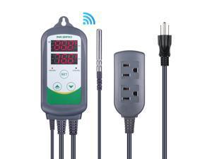 Inkbird ITC-308 WIFI Digital Temperature Controller Thermostat,1100w, w/Sensor, Remote Monitoring Controlling Home Brewing Fermentation Breeding Incubation Greenhouse