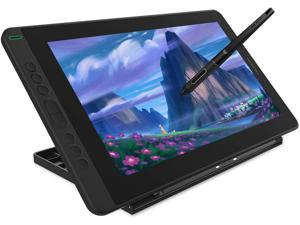 Huion Kamvas 13 Pen Display 2-in-1 Graphics Drawing Tablet with Screen Full-Laminated, Battery-Free Tilt Function 8192 Pen Pressure and 8 Shortcut Keys, Stand Included, Black