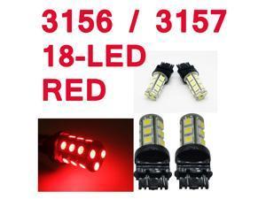 IG Tuning 3157 18-SMD Red LED Bulbs Reverse Light 3156 3757 4114 4157 Backup Daytime Running Light (DRL), Turn Signal Light, Corner, Stop, Parking, Side Marker, Tail & Back up Lights 12V