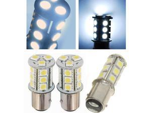 IG Tuning 1157 BAY15D 2357 7528 18-SMD 5050 LED Turn Signal Light Side Marker Dome License Plate Reverse Bulbs (White)