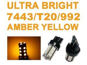 IG Tuning 18-SMD Yellow/Amber 7440 7441 7443 7444 992A T20 LED Replacement Bulbs Reverse, Turn Signal, Corner, Stop,  Parking, Side Marker, Tail and Backup Lights 12V