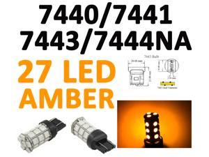 IG Tuning 27-SMD Yellow/Amber 7440 7441 7443 7444 992A T20 LED Replacement Bulbs Reverse, Turn Signal, Corner, Stop,  Parking, Side Marker, Tail and Backup Lights 12V