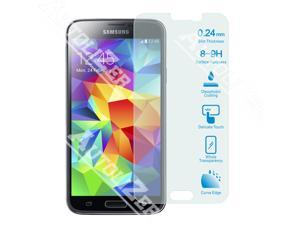 Galaxy S5 SM G900F Tempered Glass Screen Protector Ultra Transparency, 8-9 H Hardness, Extreme Sensitivity Touch, Anti-smudge, Bubble-Free