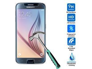Samsung Galaxy S6 VI Ballistic Tempered Glass Screen Protector, Ultra Clear [Full HD], Ultra Thin, Shatter Proof, Oleophobic Coating