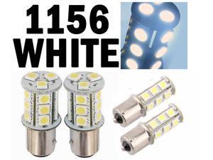 White 1156 BA15S 18 SMD 5050 LED Brake Backup Turn Signal Car Light Bulb Lamp by Autolizer