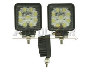 2PCS Spot Square 27W LED Work Light OffRoad Tractor Hackhoe CAT Forklift Trailer by Autolizer