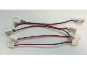 5x 10mm 5050 LED Light Strip to Strip Connector PCB Adapter 2 Pin Single Color by Autolizer