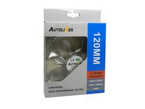 Autolizer 120mm 12cm Purple LED Cooling Fan for Computer PC Cases, CPU Coolers, and Radiators