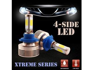 Autolizer 9006 / 9012 / HB4 120W 4-Sided LED Headlight Bulbs Conversion Kit - 6000K Diamond White