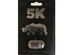 Rhino 5K Black Male Sexual Performance Enhancer Limited Edition (Pack of 1)