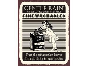 Gentle Rain Detergent Vintage Metal Laundry Cleaning Retro Tin Sign