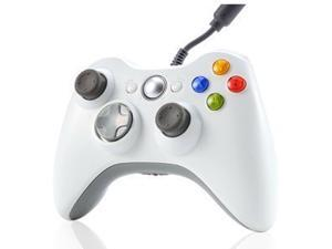 White USB Wired Xbox 360 Controller Game Pad Joypad Joystick For Microsoft Xbox 360 PC Windows