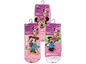 Disney Minnie 00214 3-Pack Anklets Socks Size 6-8 1/2 Assorted Styles