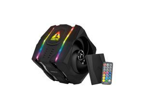 Arctic ACFRE00080A Freezer 50 (incl. A-RGB Controller) - Multi Compatible Dual Tower CPU Cooler with A-RGB CPU Cooler for AMD