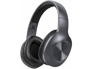 LETSCOM H10 GREY  Bluetooth 5.0 Headphones Over Ear with Deep bass, Hi-Fi Sound and Soft Earpads, Built-in Mic