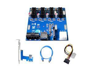 AAAwave PCI-E 1x to 4 PCI-E Multiplier HUB Adapter