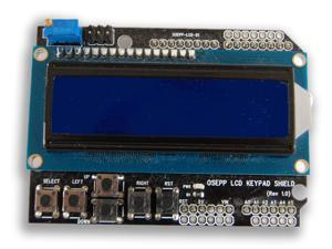 Osepp Arduino Compatible 16 x 2 LCD Display and Keypad Shield
