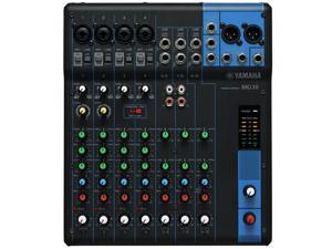 Yamaha MG10 10-Channel Compact Mixer with 4 Microphone Preamps and 3 Stereo Line Channels